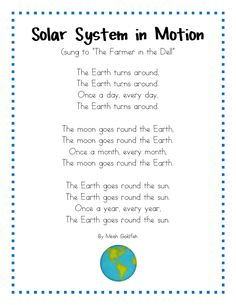 Earth for solar system unit - do we still have time in the year for the fun stuff? - Space Lesson Plans for Kindergarten. Students will learn about the phases of the moon. With reading, writing, math, crafts, and more. Fun activities for classrooms. 1st Grade Science, Kindergarten Science, Science Classroom, Teaching Science, Science Poems, Primary Science, Elementary Science, Science Lessons, Science Education