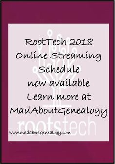 Live Online Streaming of keynote speakers, lessons and lectures from the biggest genealogy conference in the world - RootsTech - great family history resource
