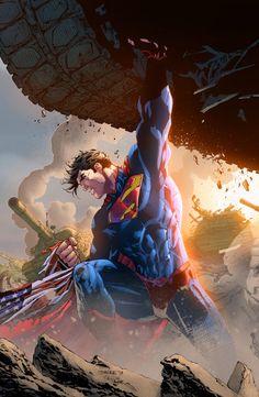 Superman Artwork, Superman Wallpaper, Superman Man Of Steel, Batman Vs Superman, Jim Lee Superman, Game Character Design, Comic Character, Marvel Heroes, Marvel Comics