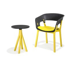 3000 Njord   Wodden Chair in neon and felt
