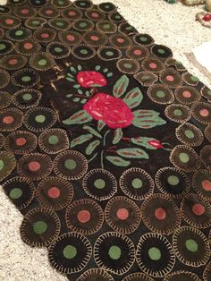 Penny Rugs On Pinterest Penny Rugs Folk Art And Wool
