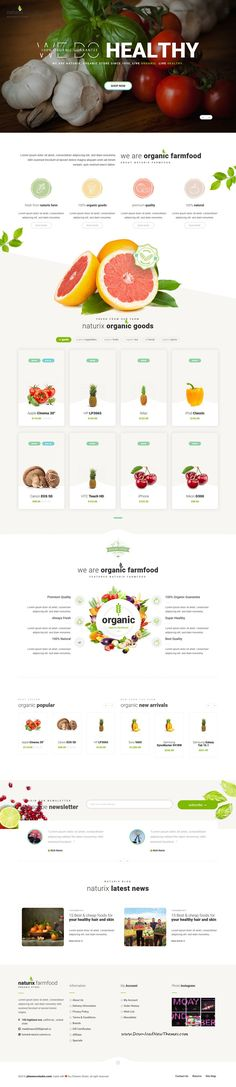Naturix is clean and modern design 4in1 responsive OpenCart theme for stunning organic store eCommerce website to live preview & download click on Visit  #ecommercewebsite #organicfood