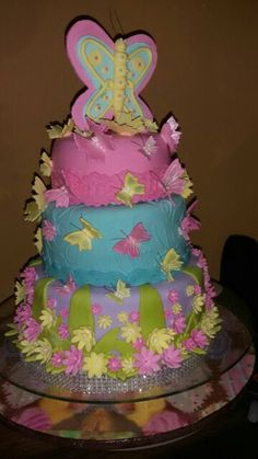 Torta baby shower mariposa