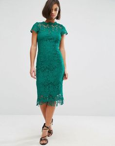 Paper Dolls Crochet Lace Dress With Cap sleeve - $82