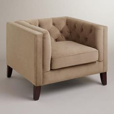 Mushroom Kendall Velvet Chair