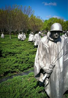 Korean War Memorial, Washington D.C. Near the Lincoln Memorial, Honoring so Many Heroes :: 36,914 of Them, Who Gave Their Life in the  Korean War [1950 through 1953]  God Bless Them & All Their Families !!