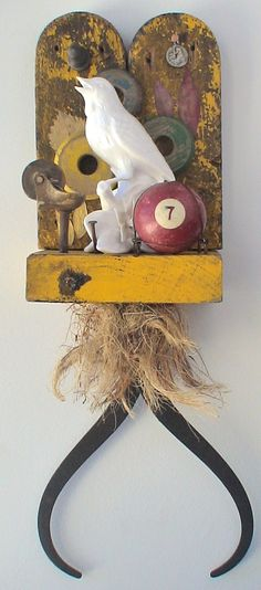 assemblage art by mike bennion - 'new dawn'