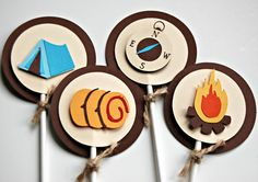 Cupcake toppers, could probably try to make similar ones myself