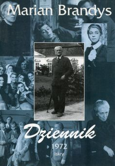 """""""Dziennik 1972"""" Marian Brandys Cover by Janusz Wysocki Published by Wydawnictwo Iskry 1996"""