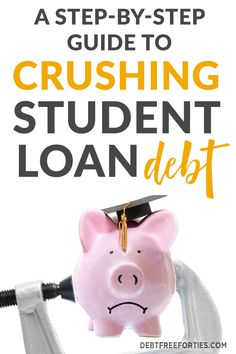 Student debt can be draining on your finances, not to mention your motivation. Here's a step-by-step guide to crush your student loan debt Apply For Student Loans, Federal Student Loans, Paying Off Student Loans, Student Loan Debt, Scholarships For College, Education College, Dave Ramsey, Student Loan Repayment, Private Loans