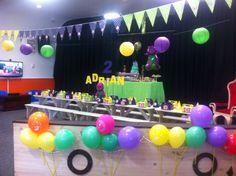 Barney party setup