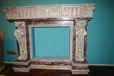 Декоративный камин ,альфрейная роспись под мрамор М Самбур 1999