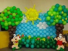 fotos de decoração de aniversário com balões
