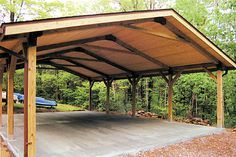 picnic shelter plans | Building, Picnic Shelter with Kitchen (PDF) Design plans for a ...
