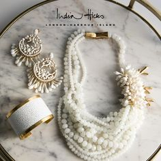 Stunning White Jewelry by India Hicks. Spring 2018 collection. Take a peek at link to view/purchase.