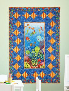 """Under the Sea"" by Patti Carey (from Quilt Trends Magazine Summer 2013 issue)"