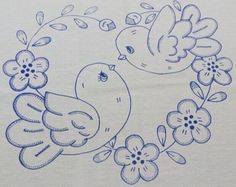Bordados Pencil Drawings Of Flowers, Pencil Art Drawings, Art Drawings Sketches, Easy Drawings, Hand Embroidery Patterns, Embroidery Stitches, Animal Coloring Pages, Baby Set, Fabric Painting