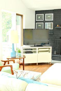 Ikea Besta Hack // TV in Corner of Living Room