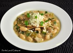 For the Love of Cooking » White Bean and Chicken Chili with Roasted Garlic