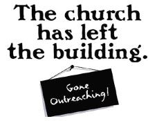 THE CHURCH IS NOT JUST  BUILT WITH BRICKS - AS BELEIVERS WE ARE LIVING STONES - WE ALL HAVE DIFFERENT GIFTS AND TALENTS - TAKE THAT FIRST STEP AND REACH OUT TO PEOPLE IN YOUR COMMUNITY - GOD BLESS YA - VINNIE