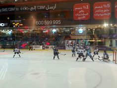 Hockey match in a Mall