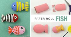Create a cute paper roll fish using this simple step by step tutorial. This is a fun way to upcycle your cardboard tubes and makes a great DIY toy for kids.