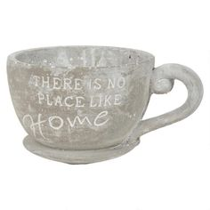No Place Like Home Teacup Planter Cement Urban Barn