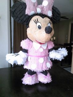 Minnie Mouse Pinata by SmashingFunCreations on Etsy https://www.etsy.com/listing/181050562/minnie-mouse-pinata