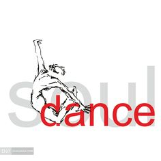 Soul Dance | Vectorized ink draw with typography application