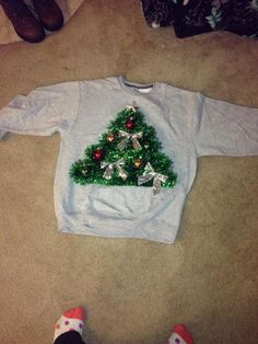 Easy diy christmas jumper for kids christmas jumpers jumper and diy ugly christmas sweater solutioingenieria Image collections
