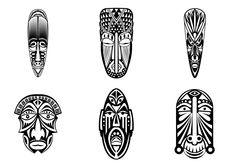 Free coloring page coloring adult 12 african masks twelve - Dessin de masque africain ...