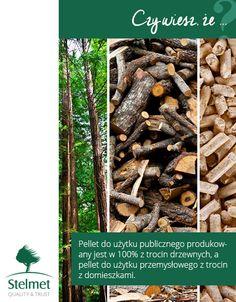 Pellet do użytku publicznego produkowany jest w 100% z trocin drzewnych, a pellet do użytku przemysłowego z trocin z domieszkami.
