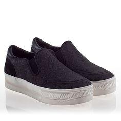 Ash Jungle Bis Womens Slip On  Sneaker Black Glitter 340280 (964)