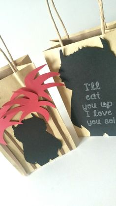 "Making these awesome favor bags! ""Where The Wild Things Are"" party theme…"