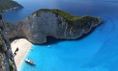 Zakynthos Island, Greece Zakynthos is a Greek island in the Ionian Sea. It is the third largest of the Ionian Islands. Mykonos, Santorini, Amazing Destinations, Holiday Destinations, Travel Destinations, Greece Destinations, Holiday Places, Travel Trip, Travel Info
