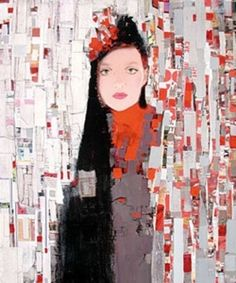 Richard Burlet  (....has a nice Klimt feel to his paintings/collages......)