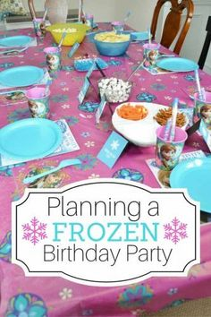How to plan the perfect Frozen themed birthday party (on a budget).