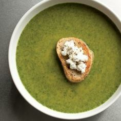 Spinach & Goat Cheese Bisque: elegant first course or light main.