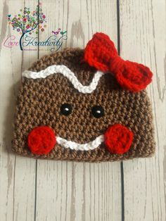 f1fa10d0b8d Items similar to Gingerbread Hat Gingerbread Beanie Gingerbread Hat Baby  Gingerbread Hat Crochet Gingerbread Hat Christmas Photo Props Newborn  Gingerbread ...