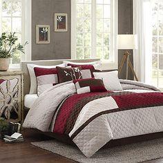 Madison Park Cooper 7-Piece Comforter Set in Red
