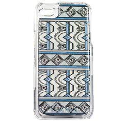 NEW DEBBIE BROOKS IPHONE 4 4S CLEAR COVER BLUE SILVER ART DECO SWAROVSKI CASE #DEBBIEBROOKS