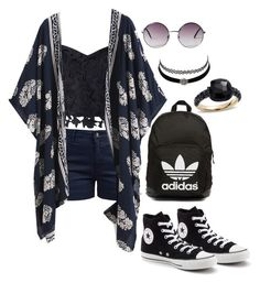 """""""Casual fun time"""" by janinelolove on Polyvore featuring Barbour, Lipsy, Converse, adidas Originals, Monki, Pomellato and Charlotte Russe"""