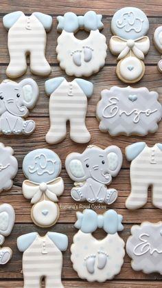 Elephant Baby Shower Cake, Baby Shower Cakes For Boys, Baby Shower Decorations For Boys, Elephant Theme, Decoracion Baby Shower Niña, Idee Baby Shower, Baby Boy Shower, Baby Boy Cookies, Baby Shower Cookies