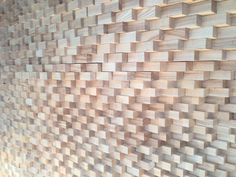 Wood relief wall