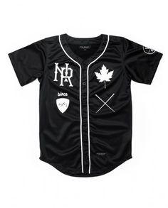 Velvet Baseball Jersey (Black)