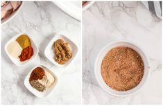 Step By Step Instructions for making Chicken wings. Mixing the spice mix in a small bowl