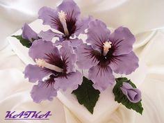 hibiscus a.k.a. Gumamela Представляю вам мастер-класс по лепке ГИБИСКУСА. В работе можно использовать марципан или пластику.