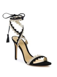 Schutz - Lisana Two-Tone Leather Lace-Up Sandals