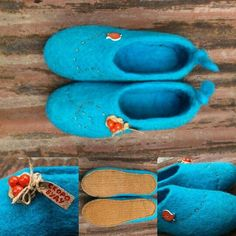 """Felted slippers """"I'll be back"""""""