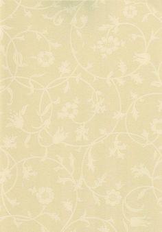 Medway Wallpaper Floral scroll design wallpaper cream on beige